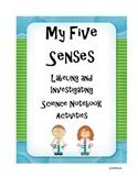 Five Senses Science Notebook