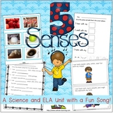Five Senses ELA and Science Unit-TPT FEATURED RESOURCE