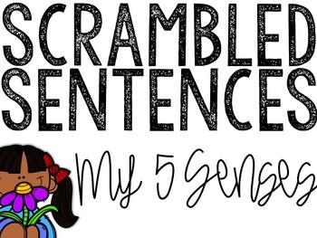 Five Senses Scrambled Sentences