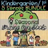 5 Five Senses Seasonal Science Writing Mini-books BUNDLE Kindergarten 1st