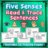Five Senses : Sentence Tracing - Includes Sight Words - Just print & go!