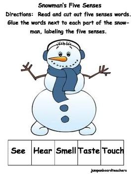 Five Senses Snowman Book