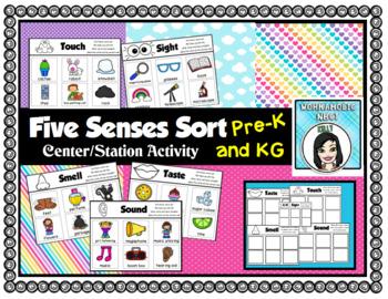 Five Senses Sorting Center Station Activity