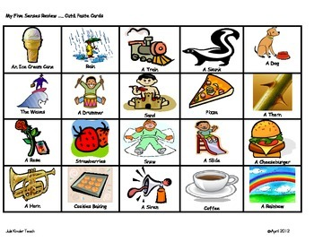 five senses sorting chart activity by the kinder zone tpt