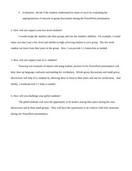 Five Senses: The Sense of Touch Lesson Plan