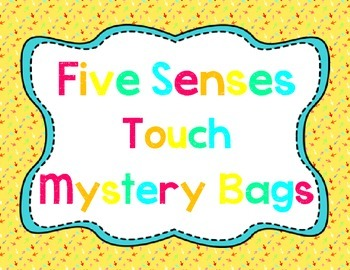 Five Senses Touch Bags