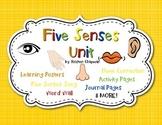 Five Senses Unit includes Journal Packet