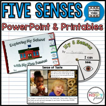 Five Senses Unit with Activities, PowerPoint, and Video