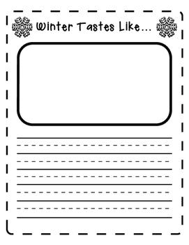 Five Senses Winter Writing Prompts