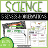 Five Senses and Science Observations Digital Activities