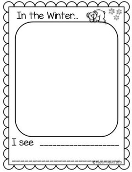 Five Senses in the Winter Writing Activity