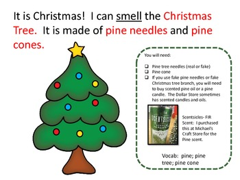 Five Senses of Christmas Unit:  Special Education; Visually Impaired; Autism