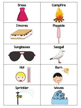 Five Senses of Summer : A Word Sort