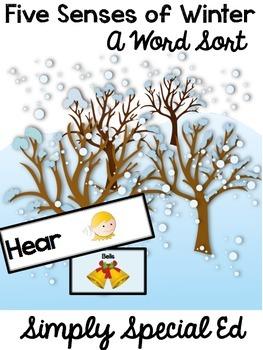 Five Senses of Winter: A Word Sort