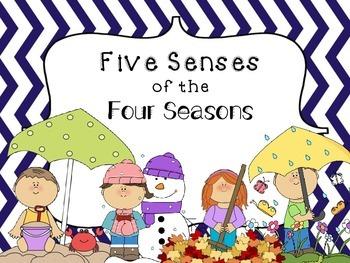 Five Senses of the Four Seasons Graphic Organizer Bundle
