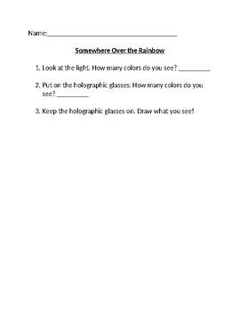 Five Senses unit - SOMEWHERE OVER THE RAINBOW