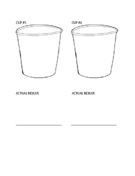 Five Senses unit - WHAT'S IN YOUR CUP?