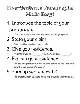 Five-Sentence Paragraphs Made Easy