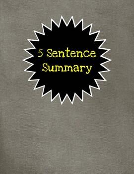 Five Sentence Summary
