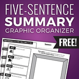 Five-Sentence Summary Graphic Organizer