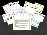 Five Short Vowel Word Family Sort Games