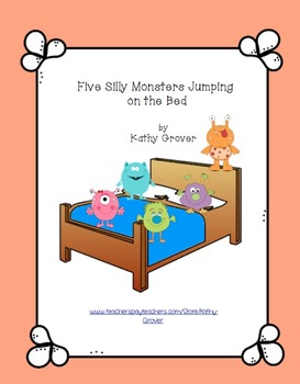 Five Silly Monsters Jumping on the Bed