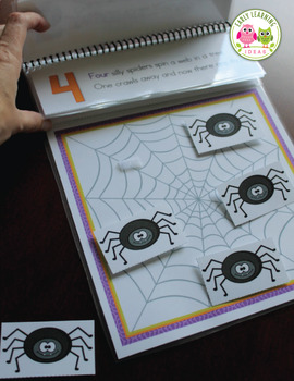 Spiders Interactive Counting Book: Five Silly Spiders Interactive Counting