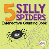 Spider & Halloween Activities | Five Silly Spiders Interactive Counting Book