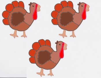 Five Silly Turkeys - Story Visuals [speech therapy and autism]