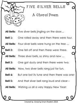 Silver Bells Poem and Craftivity
