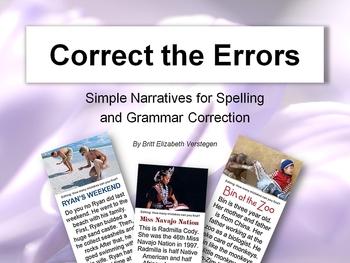 Five Simple Narratives (ESL - Error Correction)