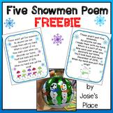 Five Snowmen Poem 2015 FREEBIE