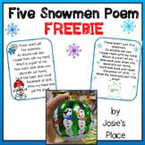 Five Snowmen Poem 2017 FREEBIE