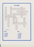 Five Spanish Crosswords for Students