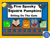 Five Spooky Square Pumpkins - Make a Book