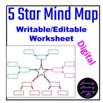 Five Star Graphic Organizer (editable word doc)*Tara-Lee Markides Deighan