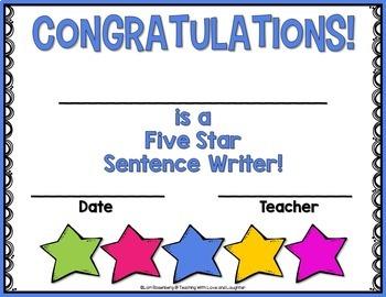 Five Star Sentences