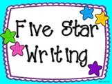 Five Star Writing Posters - Smiley Stars