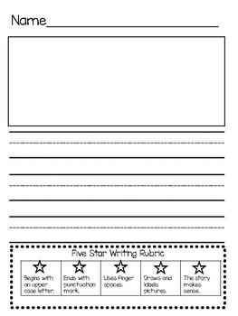 Five Star Writing Rubric and Paper