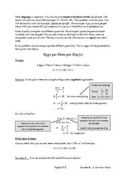 Five Step Problem Solving: Egg you on