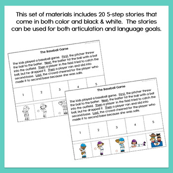 Five Step Sequencing Stories Set 2