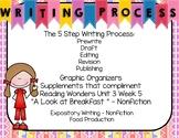 Five Step Writing Process: First Grade Reading Wonders Unit 3 Week 5
