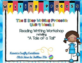 Five Step Writing Process: First Grade Reading Wonders Unit 4 Week 1