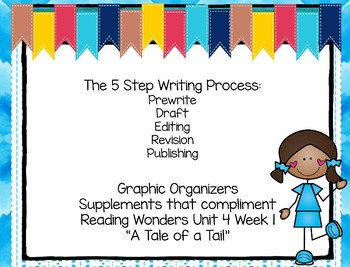 Five Step Writing Process: First Grade Reading Wonders Unit 4 Week 1