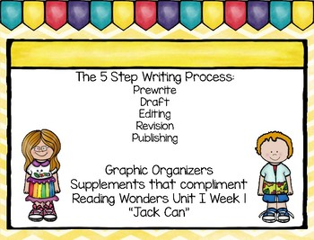 Five Step Writing Process: First Grade Reading Wonders Unit 1 Week 1