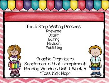 Five Step Writing Process: First Grade Reading Wonders Unit 1 Week 4