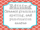 Five Step Writing Process Posters {Grey & Coral}