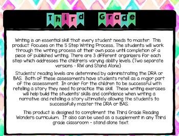 Five Step Writing Process: Third Grade Reading Wonders Unit 3 Week 3