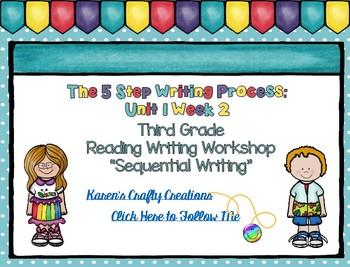 Five Step Writing Process: Third Grade Unit 1 Week 2