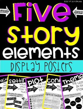 Five Story Elements Display Posters